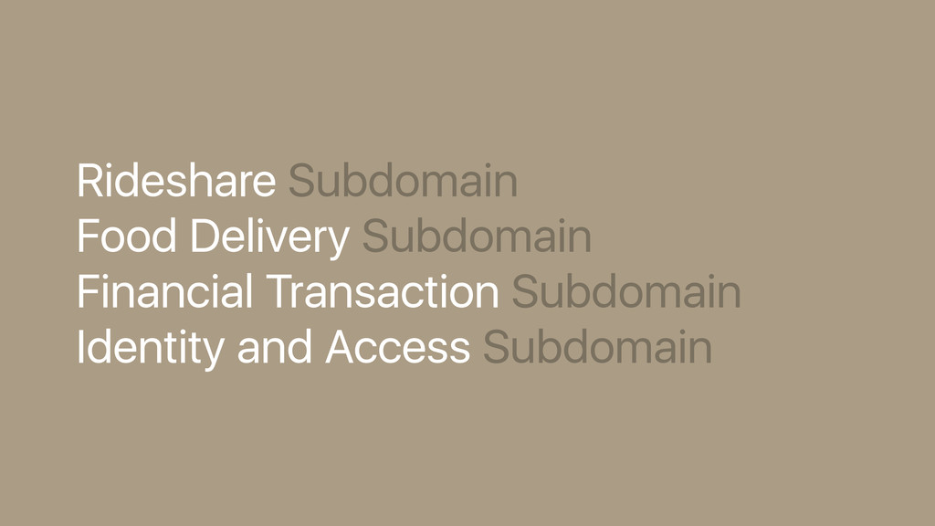 Rideshare Subdomain Food Delivery Subdomain Fin...