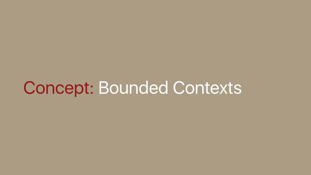 Concept: Bounded Contexts
