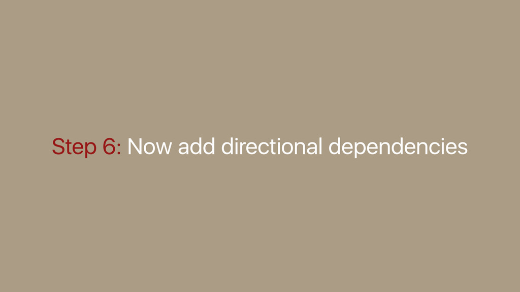 Step 6: Now add directional dependencies