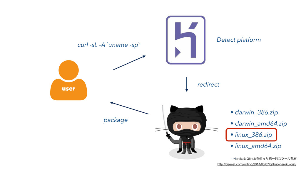 user curl -sL -A `uname -sp` redirect package D...