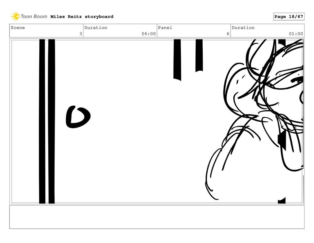 Scene 3 Duration 06:00 Panel 6 Duration 01:00 M...