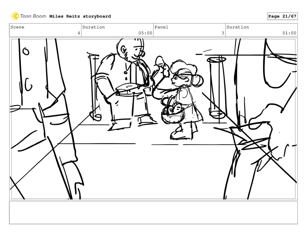 Scene 4 Duration 05:00 Panel 3 Duration 01:00 M...