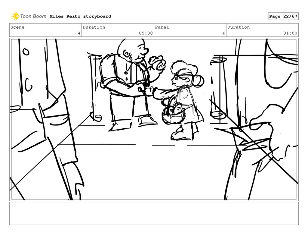 Scene 4 Duration 05:00 Panel 4 Duration 01:00 M...