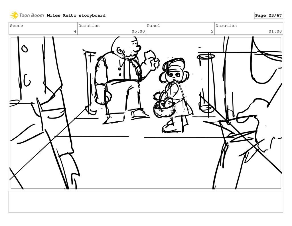 Scene 4 Duration 05:00 Panel 5 Duration 01:00 M...