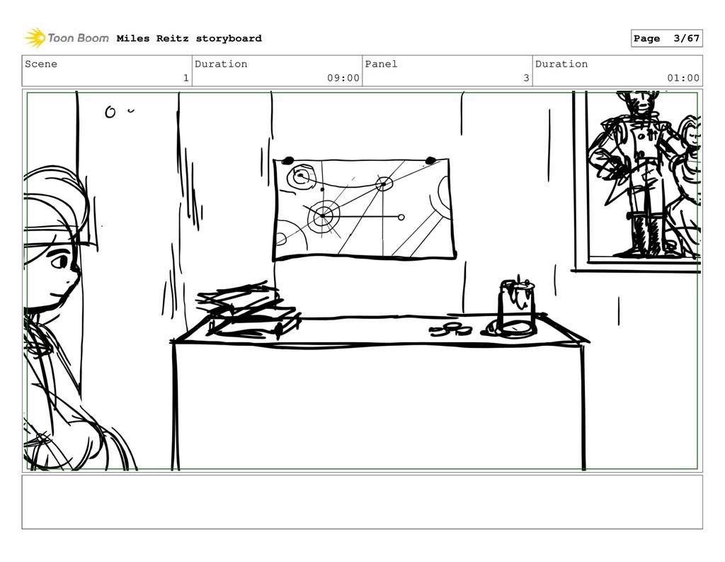 Scene 1 Duration 09:00 Panel 3 Duration 01:00 M...