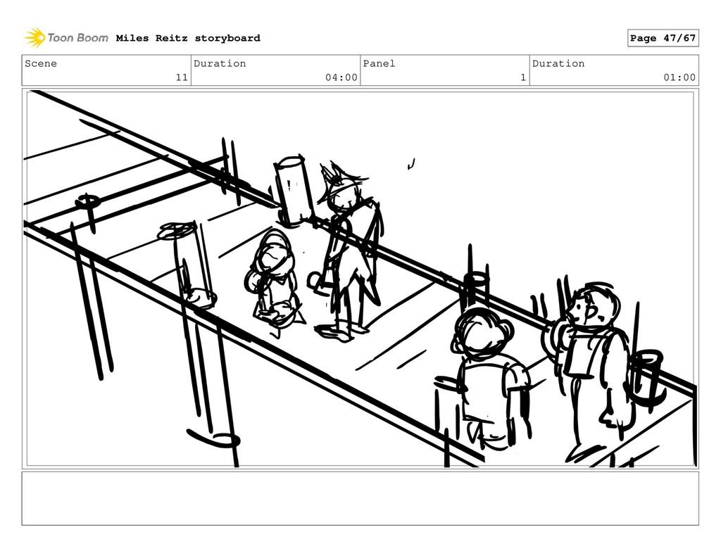 Scene 11 Duration 04:00 Panel 1 Duration 01:00 ...