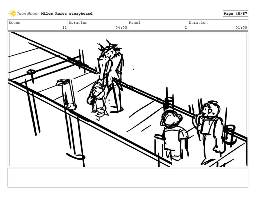 Scene 11 Duration 04:00 Panel 2 Duration 01:00 ...