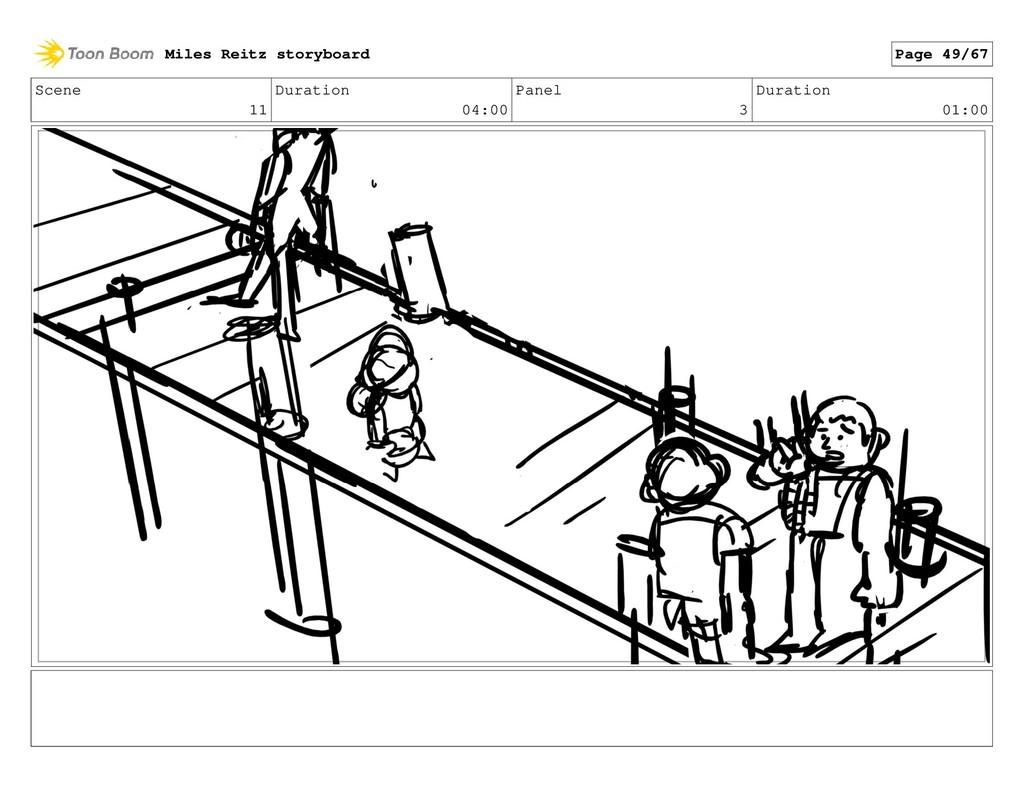 Scene 11 Duration 04:00 Panel 3 Duration 01:00 ...