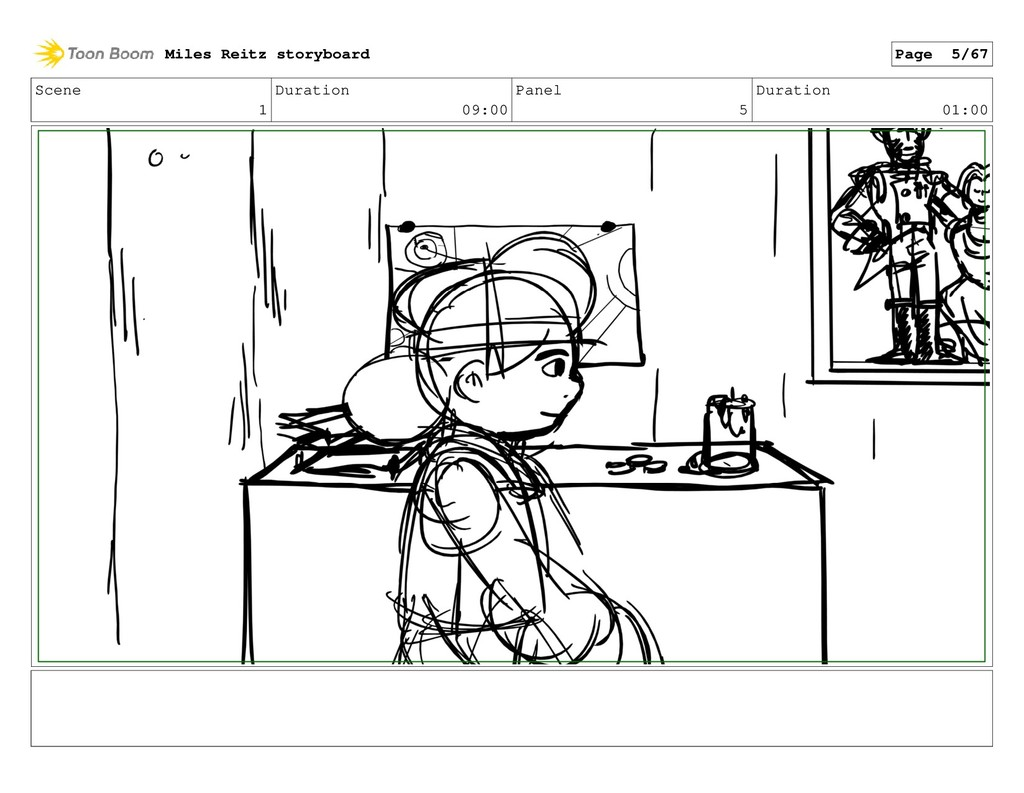 Scene 1 Duration 09:00 Panel 5 Duration 01:00 M...