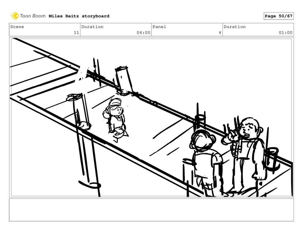Scene 11 Duration 04:00 Panel 4 Duration 01:00 ...