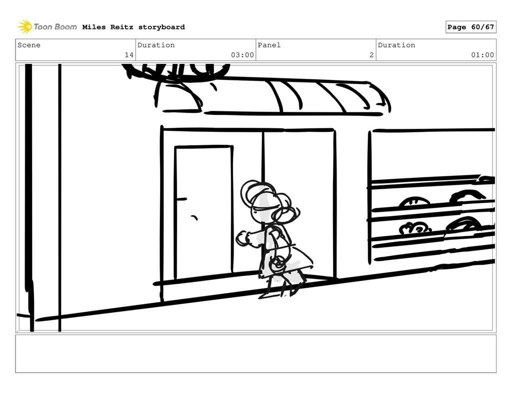Scene 14 Duration 03:00 Panel 2 Duration 01:00 ...