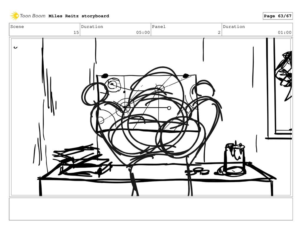 Scene 15 Duration 05:00 Panel 2 Duration 01:00 ...