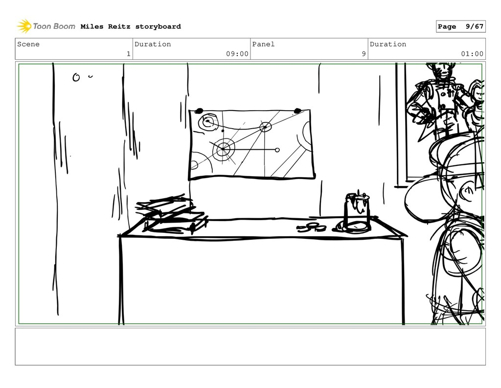 Scene 1 Duration 09:00 Panel 9 Duration 01:00 M...