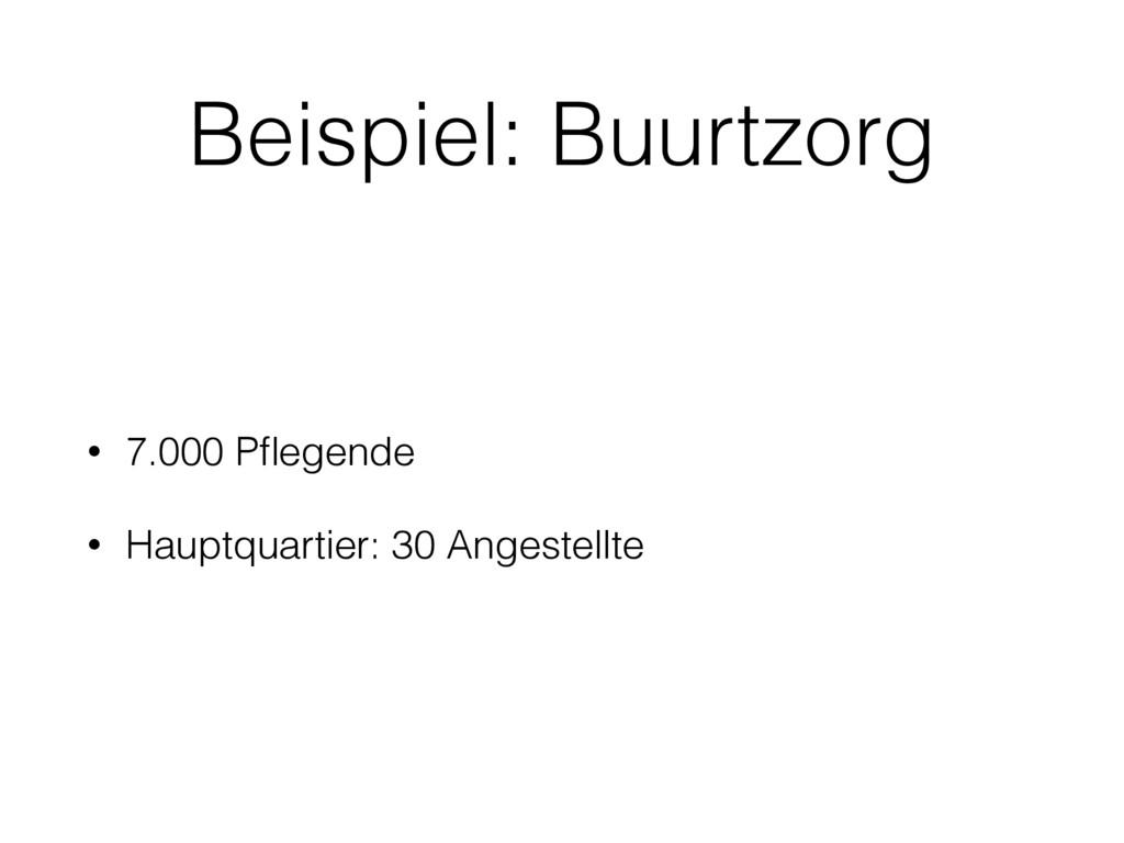 Beispiel: Buurtzorg • 7.000 Pflegende • Hauptqua...