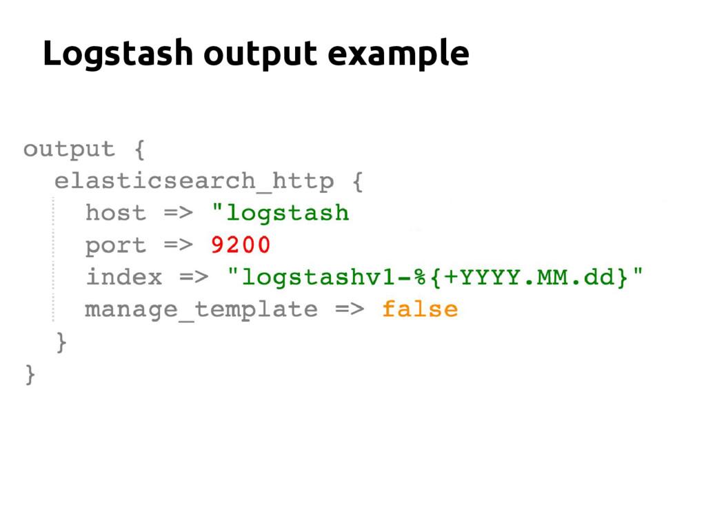 Logstash output example