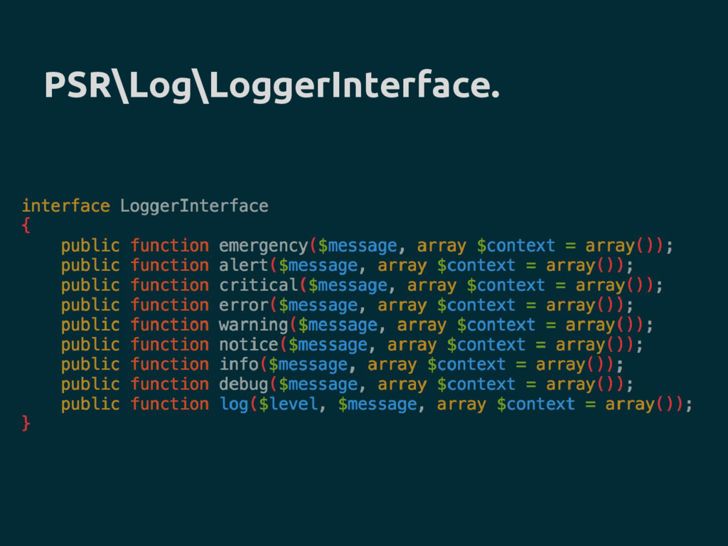 PSR\Log\LoggerInterface.