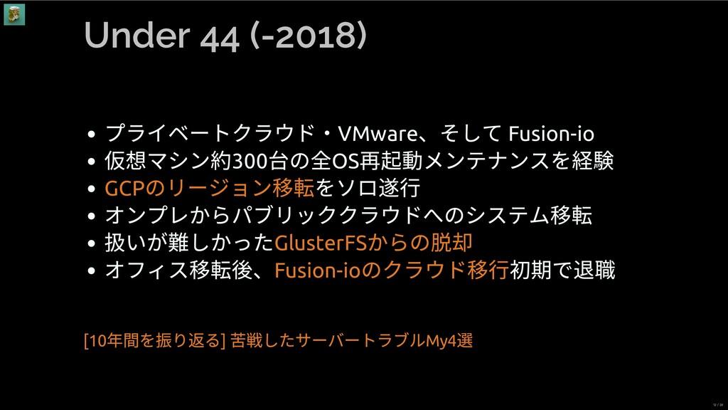 Under 44 (-2018) プライベートクラウド・VMware 、そして Fusion-...