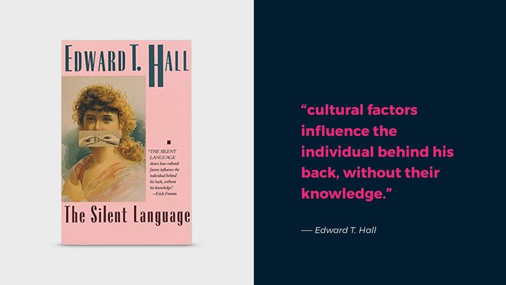 """cultural factors influence the individual behin..."
