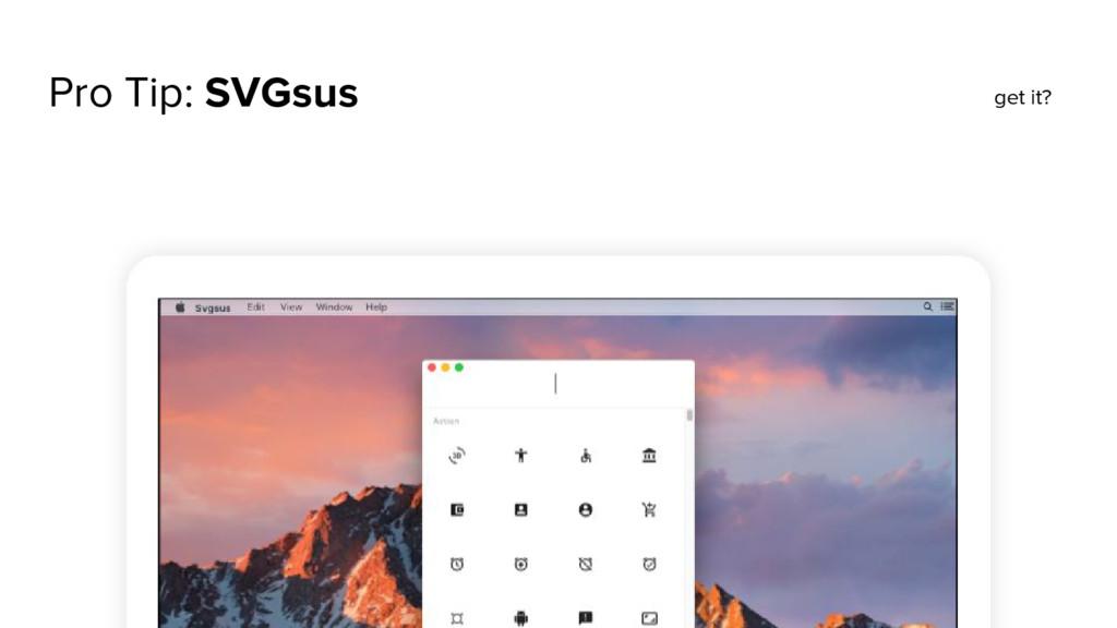 Pro Tip: SVGsus get it?