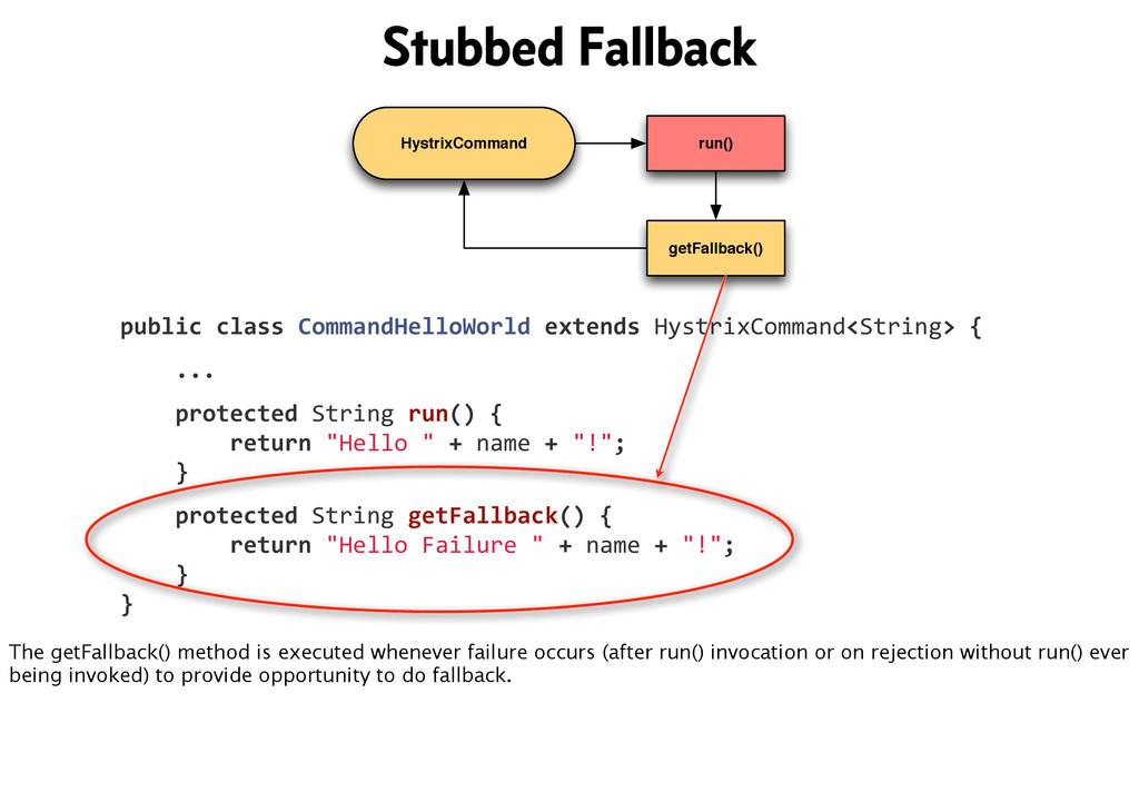 HystrixCommand run() getFallback() public cl...