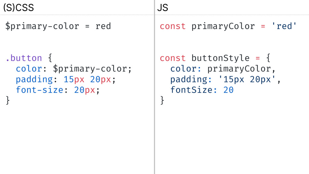 $primary-color = red .button { color: $primary-...
