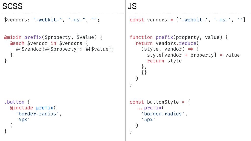 """$vendors: """"-webkit-"""", """"-ms-"""", """"""""; @mixin prefix..."""