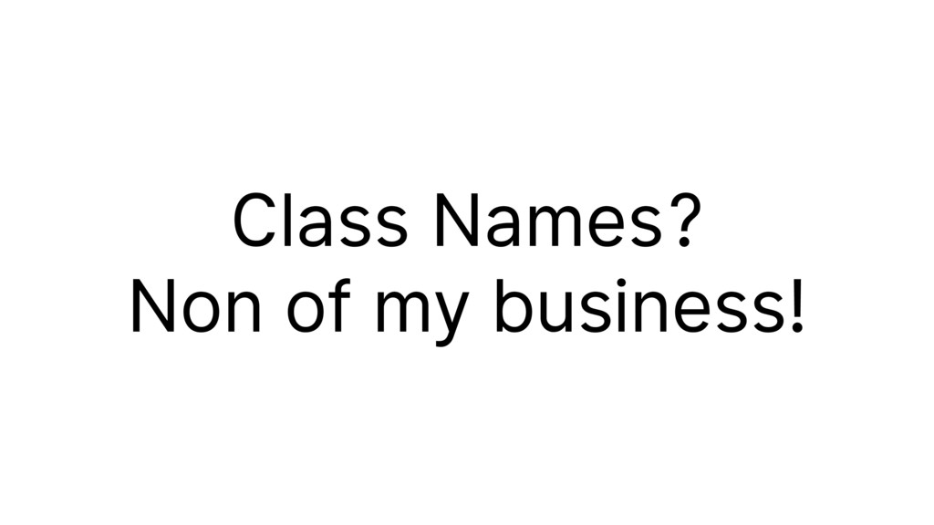 Class Names?