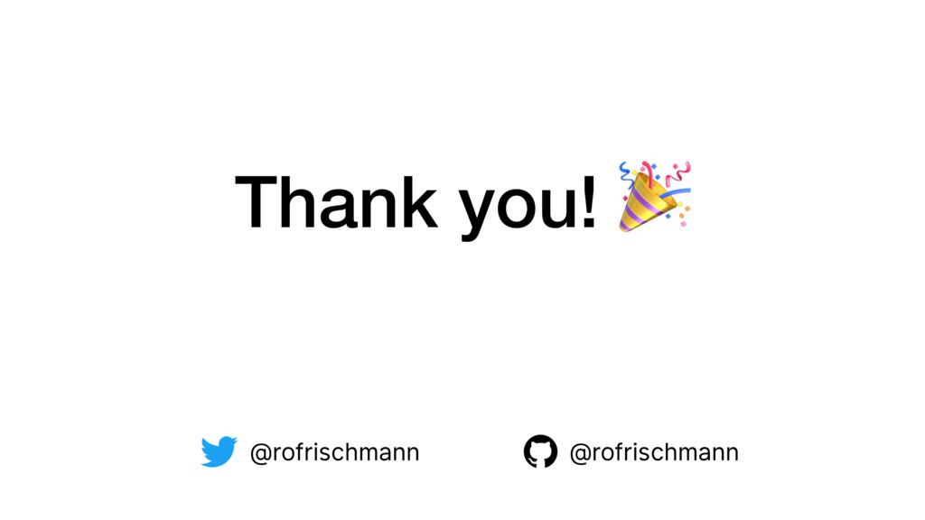 Thank you!  @rofrischmann @rofrischmann