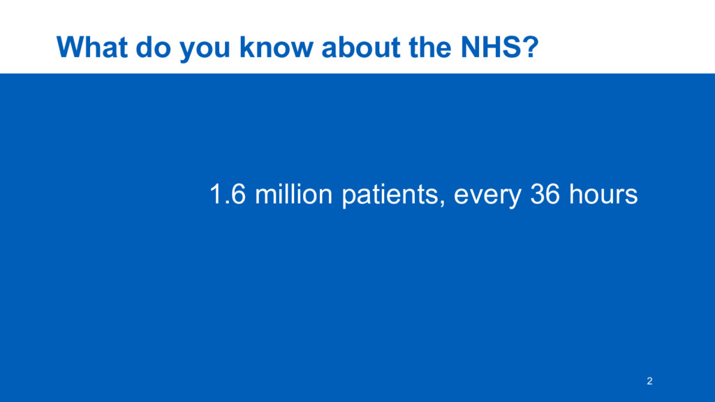 What  do  you  know  about  the  NHS? 2 1.6  mi...