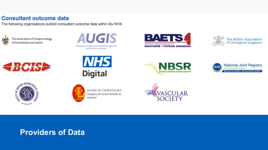Providers  of  Data