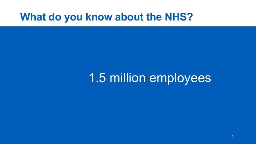 What  do  you  know  about  the  NHS? 4 1.5  mi...