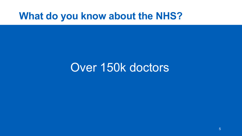 What  do  you  know  about  the  NHS? 5 Over  1...