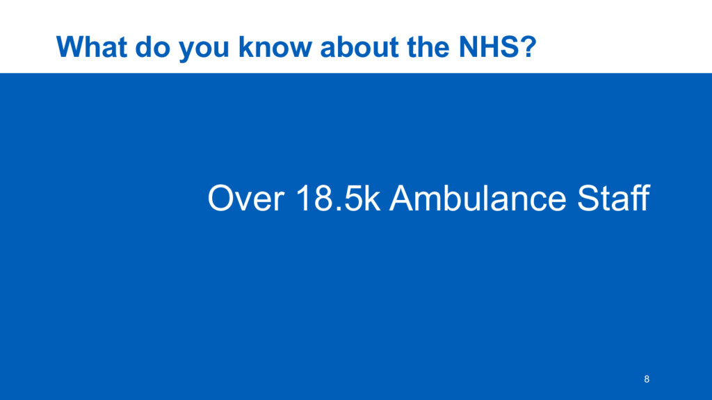 What  do  you  know  about  the  NHS? 8 Over  1...