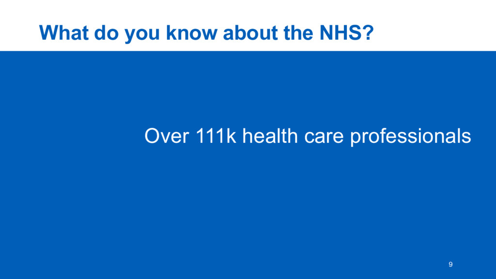 What  do  you  know  about  the  NHS? 9 Over  1...