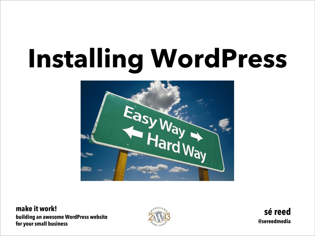 make it work! building an awesome WordPress web...