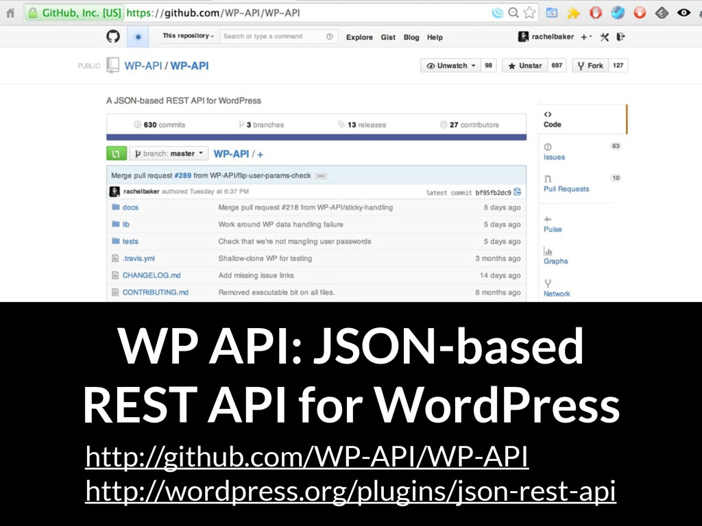 WP API: JSON-based REST API for WordPress http:...