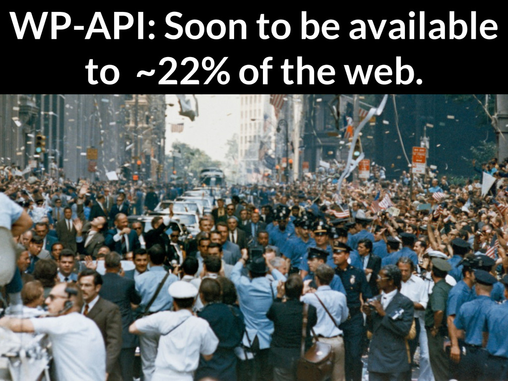 WP-API: Soon to be available to ~22% of the web.