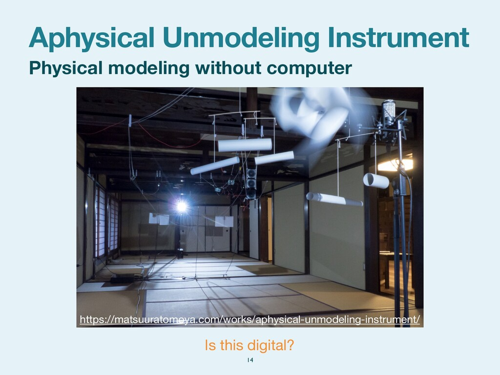 Physical modeling without computer Aphysical Un...
