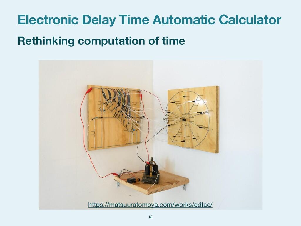 Rethinking computation of time Electronic Delay...