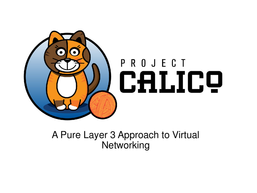 A Pure Layer 3 Approach to Virtual Networking