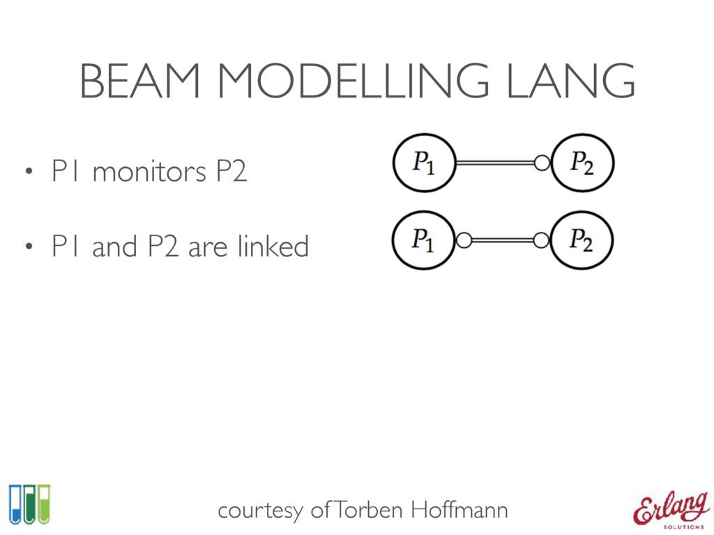 BEAM MODELLING LANG • P1 monitors P2 • P1 and P...