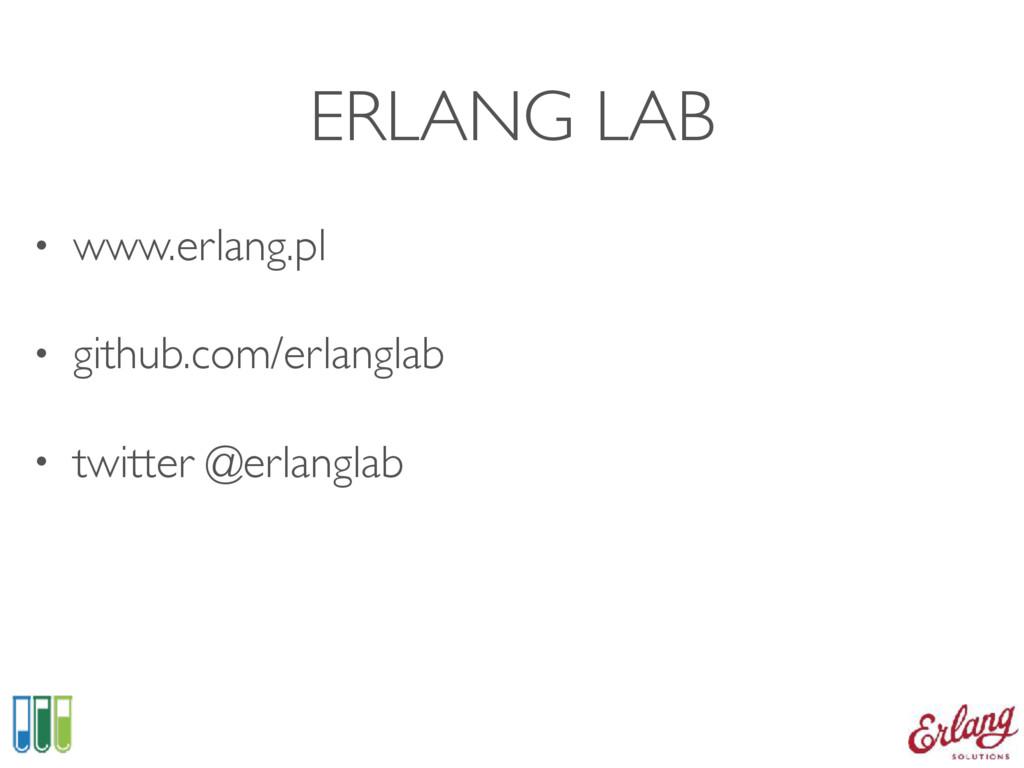 ERLANG LAB • www.erlang.pl • github.com/erlangl...