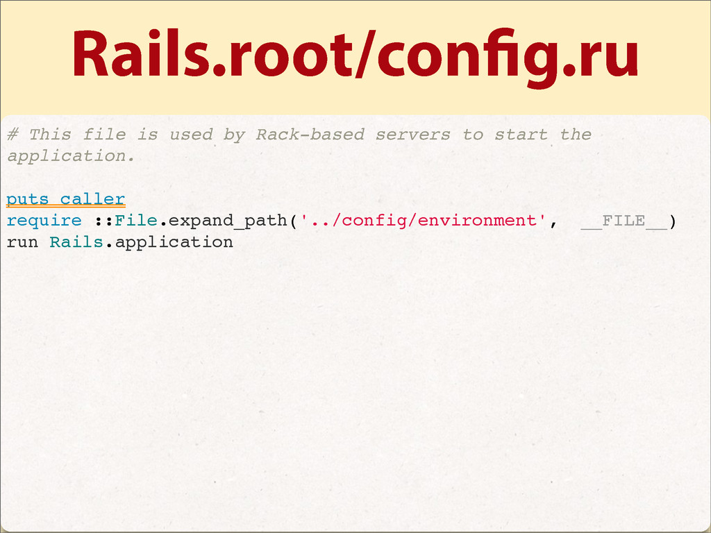 Rails.root/con g.ru # This file is used by Rack...