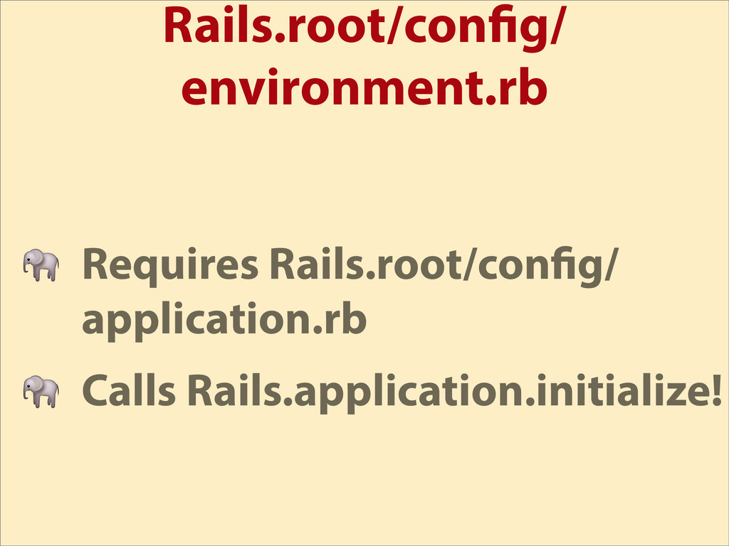 Rails.root/con g/ environment.rb  Requires Rail...