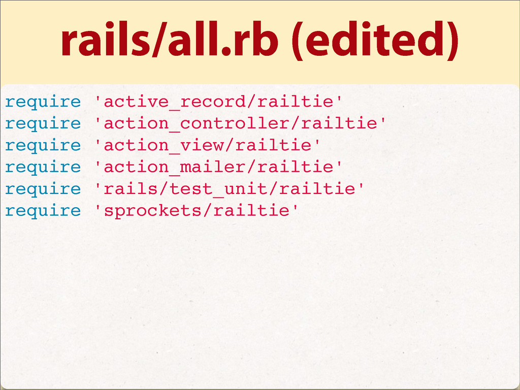rails/all.rb (edited) require 'active_record/ra...