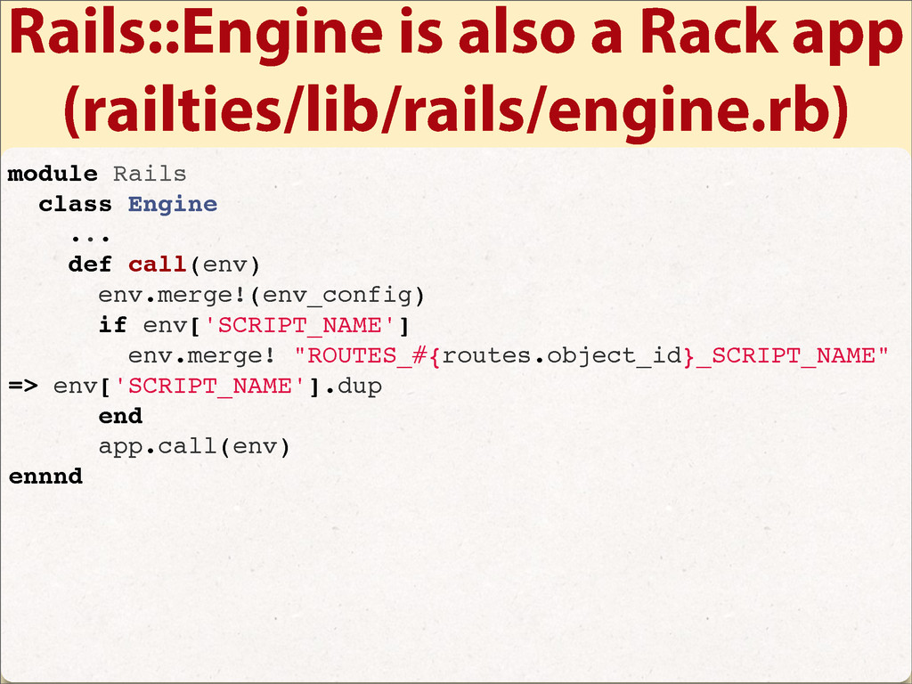 Rails::Engine is also a Rack app (railties/lib/...