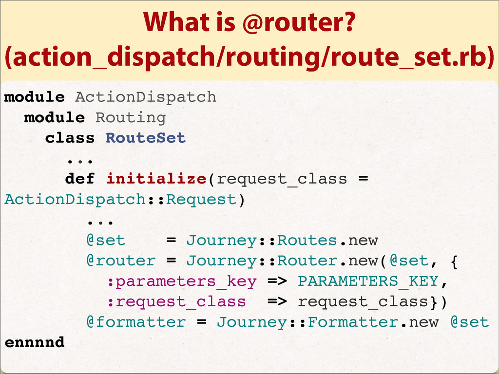 What is @router? (action_dispatch/routing/route...