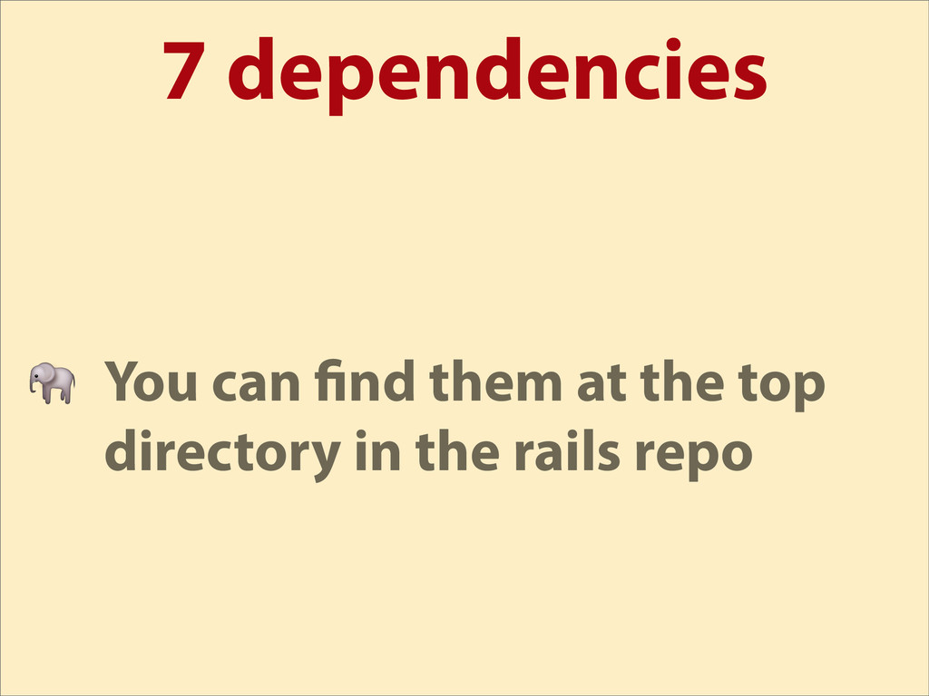 7 dependencies  You can nd them at the top dire...
