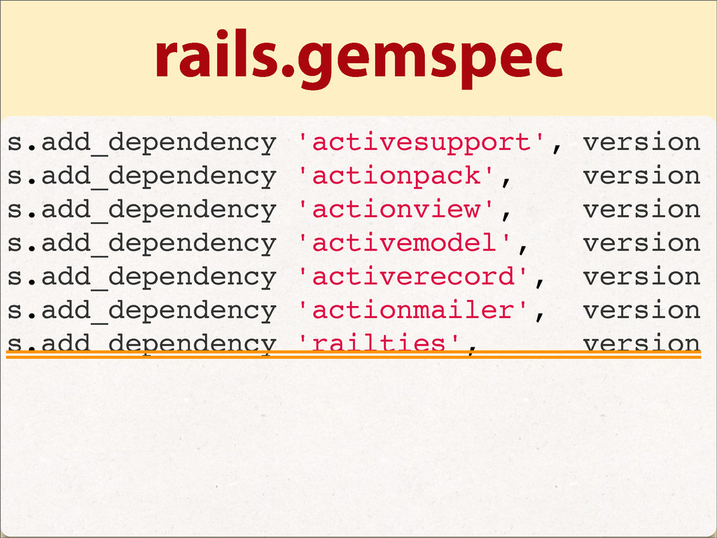 rails.gemspec s.add_dependency 'activesupport',...