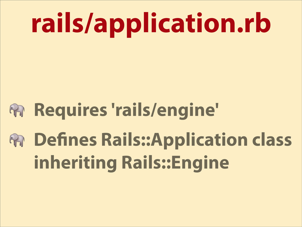 rails/application.rb  Requires 'rails/engine'  ...